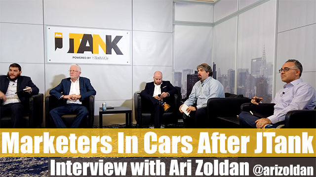 Marketers in a Car after JTank with Ari Zoldan